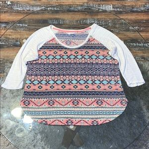Maurice's 3/4 sleeve knit top